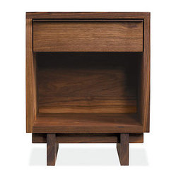 Anders Nightstands - Room & Board - Inspired by the designs of George Nakashima, the Anders nightstand is handcrafted by Vermont artisans. Functional and beautiful, with mortise-and-tenon joinery, Anders is enhanced by a natural oil-and-wax finish.