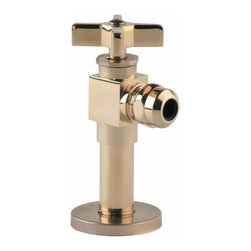 Renovators Supply - Angle Stop Valves PVD Brass Toilet Angle Stop Valve 1/2 FIPx1/2OD - Toilet Angle Stop, 1/2 FIPx1/2 OD. PVD brass, means that the finish on this item is virtually indestructible!