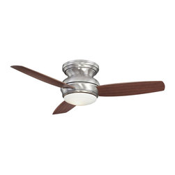 Minka Aire - Traditional Concept Hugger Ceiling Fan - Traditional Concept Hugger Ceiling Fan comes in Tinted Opal glass with an Oil Rubbed Bronze finish and Maple blades, Opal glass with a White finish and White blades, or Opal glass with a Pewter finish and Maple blades. Available in 44 inch and 52 inch Blade Spans. The 44 inch Blade Span has a 153mm x 17mm motor and 14 degree blade pitch. 44 inch width x 10.75 inch height. The 52 inch Blade Span has a 17mm x 20mm motor and 14 degree pitch. 52 inch width x 10.75 inch height. Three speed wall control with full range light dimming and reverse function is included. One 100 watt, 120 volt T4 type Minican base halogen bulb is included. UL listed for damp and wet locations.