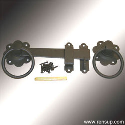 Renovator's Supply - Gate Turn Latch - A fabulous detail for a modern sleek look or for that Old Colonial charm. Affordably update old gates and doors.