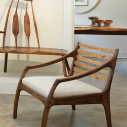 Tiburon Chair - We are priviledged to call Richard Patterson our friend.  He is an amazing woodworker who has been perfecting his craft for 40 years.  His creations are stunning, simple and perfect.  His joinery is complex but understated.   His pieces are truly heirloom to be passed on from generations to generations.