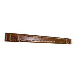 Proman - Proman Home Essential Tie & Belt Hanger, Walnut Finish - Home Essential Tie & Belt Hanger, in Walnut finish. Has 20 tie bars and 4 belt hooks. Keep ties and belts organized Chrome Hardware. Walnut Finish. Made of high-quality wood.