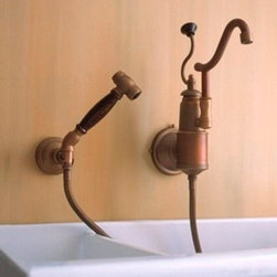 Traditional Kitchen Faucets For A French Country Kitchen- HomeThangs.com -