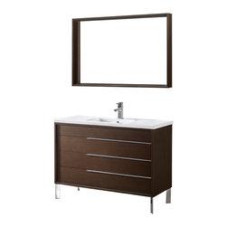 Adornus - Adornus MILANO-48-WAL-C Walnut Vanity - * Free standing all wood vanity
