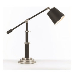 Candice Olson - Candice Olson AF-7911-TL Scope Contempoary Adjustable Desk Lamp - The Scope wall table lamp is an exclusive design by Candice Olson.  Created perfect lighting with the adjustable Scope table lamp. Add to your decor with the matching table lamp and Floor Lamp.  It is artfully crafted using oil rubbed bronze with brush si