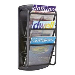 Safco safco impromptu magazine rack 3 pocket in black for Houzz magazine