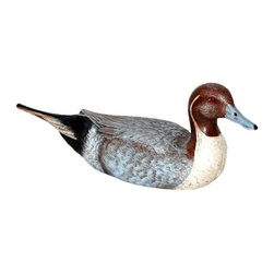 Craft-Tex - Decoys 10 in. Pintail Drake - Antique and vintage Water Fowl and Decoy reproductions. Award winning designs. Exact reproduction of a Master Carvers original. Hand cast in a variety of mediums to insure the exact detailing of the original wood carving. Crafted by North Carolina artists with attention to detail. Made in USA. Made of pecan shell resin. 1-Year warranty