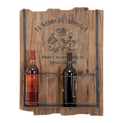 ecWorld - Casa Cortes 4-Bottle Rustic Wooden Wine Holder Rack Barware - Mixing modern metal with rustic wood this Casa Cortes Wine Holder brings new meaning to the art of entertaining. Designed for unparalleled functionality this wine rack will be a great addition to your Barware decor.