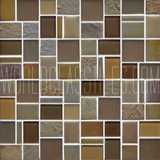 Contemporary Mosaic Tile by World Class Tiles