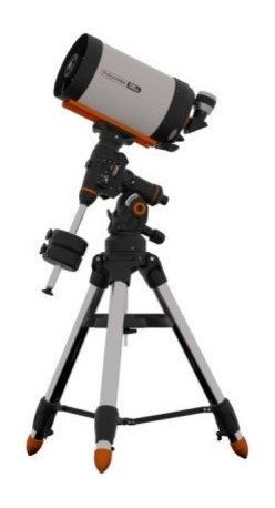 "Celestron CGEM DX 11 Inch Edge HD Optics Telescope - The Celestron CGEM DX 1100 HD combines Celestron's newly designed CGEM DX Computerized Equatorial mount with its new EdgeHD optical system. With an optical tube assembly weighing only 28 lbs this telescope is still portable enough to be taken to dark skies and has 89% more light gathering power than an 8"""" telescope and 40% more than the 9.25"""". Celestron CGEM DX Equatorial Mount The Celestron CGEM DX mount is the newest member of our fully computerized Equatorial mount series capable of carrying Celestron's high-end 11"""" and 14"""" optical tubes. The CGE PRO style 2.75"""" leg tripod holds even our 14"""" optics securely and vibration free which is ideal for both imaging and visual observing. Capable of holding 50 lbs of payload and slewing at 5° per second you will be able to instantly point to any of the celestial objects in the database. German Equatorial mounts are recognized for their rock solid stability simple balancing and easy accessibility for attaching accessories. With sophisticated software features like the Hibernate function the CGEM DX can maintain its star alignment night after night without needing to be re-aligned making it an excellent choice for a permanent observatory facility. Ergonomic Design - CGEM DX was designed to be ergonomically friendly with large Altitude and Azimuth adjustment knobs for quick and easy polar alignment adjustment. The internal RA and DEC motor wiring provides a clean look and an easy and trouble free set up. Innovation - The CGEM DX series has a new innovative Polar alignment procedure called All-Star™. All-Star allows users to choose any bright star while the software calculates and assists with polar alignment. Another great feature of the CGEM DX sure to please astroimagers is the Permanent Periodic Error Correction (PEC) which will allow users to train out the worm gears periodic errors while the mount retains the PEC recordings. Performance - For objects near the Meridian (imaginary line passing from North to South) the CGEM DX will track well past the Meridian for uninterrupted imaging through the most ideal part of the sky. The CGEM mount has a robust database with over 40 000 objects 100 user defined programmable objects and enhanced information on over 200 objects. Power Management - Redesigned electronics deliver constant regulated power to the motors making them capable of driving the telescope even when not perfectly balanced. This allows the CGEM DX to have the payload capacity of that of much larger mounts without sacrificing smooth tracking motion and pointing accuracy across the entire sky. New Optical Design - EdgeHD The EdgeHD optical system takes all of the compact power popularized by the Schmidt Cassegrain Telescope (SCT) and combines it with an improved high definition optical system for wide field astrograph quality images. As a visual instrument EdgeHD optics deliver pinpoint images even with your widest field eyepiece. You can search for all of the Messier Catalog objects and see hundreds of other equally interesting NGC IC and Caldwell objects with amazing clarity. For astroimaging the EdgeHD optics produce aberration-free images across your favorite CCD or DSLR camera. All EdgeHD optics are designed to produce an extremely flat focal plane precise enough to match the strict tolerances of the largest commercial CCD detectors allowing all stars to be in tight focus to the very edge of the chip. Diffraction Limited Some companies boast that their telescopes give diffraction limited stars in the very center of the field of view. EdgeHD optics not only produce diffraction limited stars on axis but maintain diffraction limited stars across the entire field of view of many of the most popular astrophotography cameras. Even at the very edge of a full frame camera chip the EdgeHD 14"""" delivers star sizes of only 1 arc second! Along with the newly designed optics the EdgeHD also has re-designed mechanics guaranteed to help you get the maximum performance from your instrument. Features Include: Mirror Locks – To hold the mirror in place and reduce image shift during imaging. Tube Vents - Each vent has an integrated 60 micron micro-mesh filter allowing hot air to be released from behind the primary mirror. Fastar Versatility – All EdgeHD optical tubes are equipped with a removable secondary mirror for fast f/2 CCD imaging. Not only does imaging in the FASTAR configuration allow for exposure times that are 25 times faster than at f/10 but also yields a field of view five times wider. The perfect combination for imaging your favorite wide field objects in a fraction of the time. (FASTAR imaging requires a third party lens assembly in place of the secondary mirror). 82° Eyepiece - EdgeHD 11"""" optical tubes come with Celestron's top of the line 2"""" barrel eyepiece. With a 23 mm focal length and 82° AFOV you get an incredible combination of power and wide field of view. Plus this 6-element eyepiece is optimized to deliver pinpoint images when used with a flat field telescope. Learn more about the benefits and features of this new optical system by going to the EdgeHD web page. The EdgeHD 14"""" optics produce a focal plane three-times flatter than the standard equivalent SCT telescope with diffraction limited stars to the very edge of the SBIG STL6303 field of view! Celestron CGEM DX 1100 HD - General Features 11""""; EdgeHD Optics New Celestron CGEM DX Computerized Equatorial Mount Celestron's premium StarBright XLT coatings 9x50 finderscope to help accurately find objects Ultra sturdy 2.75"""" steel tripod with Accessory Tray Star diagonal provides more comfortable viewing position when observing objects that are high in the sky Celestron CGEM DX 1100 HD - HD Features New aplanatic Schmidt telescope design produces aberration-free images across a wide field of view Mirror tension locks hold the primary mirror in place and reduce image shift Cooling vents allow hot air to be released from behind the primary mirror Fastar compatible for fast f/2 imaging Celestron CGEM DX 1100 HD - Computerized Mount Features Proven NexStar computer control technology 40 000 object database with over 100 user-definable objects and expanded information on over 200 objects New """"All-star"""" Polar alignment uses any bright star for a quick and accurate Polar alignmentSoftware Features include: Mount Calibration Database Filter Limits Hibernate five Alignment Procedures Flash upgradeable hand control software and motor control units for downloading product updates over the Internet Custom database lists of all the most famous deep-sky objects by name and catalog number: the most beautiful double triple and quadruple stars; variable stars; solar system objects and asterisms Permanent Programmable Periodic Error Correction (PEC) - corrects for periodic tracking errors inherent to all worm drives Drive Motors - Low Cog DC Servo motor with integrated optical encoders offer smooth quiet operation and long life. The motor armatures are skewed to minimize cogging which is required for low speed tracking. Internal Cable wiring for trouble-free setup and transportation Designated six-pin RJ-12 modular jack ST-4 compatible guide port Autoguide port and Auxiliary ports located on the electronic plate for long exposure astrophotography Double-line 16-character Liquid Crystal Display Hand Control with backlit LED buttons for easy operation of goto features RS-232 communication port on hand to control the telescope via a personal computer Includes NexRemote telescope control software for advanced control of your telescope via computer GPS compatible with optional SkySync GPS Accessory Precision machined 40 mm diameter steel Polar shafts supported by multiple tapered roller bearings and ball bearings. Secure power plug ensures that the mount's power source is not accidentally disconnected Celestron All-Star Polar Alignment Technology All-Star Polar Alignment TechnologyGerman Equatorial Mounts (GEM) have long since been recognized as the mount of choice for astrophotography. Needing to track in only one axis for long exposures; adjustable counterweights and tube position for perfect balance the GEM has few short comings when it comes to imaging. In order to do long-exposure astro-imaging an equatorially aligned telescope is needed to allow your telescope to properly track the motion of the sky. However accurate tracking still depends on an accurate polar alignment. Even with a visible star very near the North Celestial Pole (NCP) the true celestial pole can be a very elusive place to find without assistance. Now select Celestron mounts can utilize a new innovative Polar alignment procedure called All-Star™. All-Star allows users to choose any bright star while the software calculates and assists with polar alignment. Here's how it works. Once your telescope is aligned with two bright star All-Star allows you to choose any bright star listed in the NexStar hand control to assist in accurately aligning your telescope's mount with the North Celestial Pole. Using the telescope's Sync function the mount is able to point and center a bright star with a high degree of accuracy. Once centered the mount will point the telescope to the exact position that the star should be if the mount were precisely polar aligned. By simply adjusting the mounts altitude and azimuth controls to re-center the star in the center of the eyepiece you are actually moving the mounts polar axis to the exact position of the North Celestial Pole. FAQ Can I use Polaris to polar align my telescope?Since Polaris is very close to the NCP and not very bright it is actually not a recommended star for the """"All-Star"""" method. The advantages of being able to use stars other than Polaris are two fold: Polaris is not always visible. So not only can you use a variety of other stars but they are also brighter and more prominent.The star you choose will be farther away from the NCP thus allowing for greater accuracy when centering the star in your eyepiece. Which stars are best to use for polar aligning?For best results choose a bright alignment star that is near the Meridian preferably close to the celestial equator. Try to avoid stars that are close to the west/east horizon or directly overhead because they can be more difficult to center using the mount's altitude and azimuth controls. Also stars too near the celestial pole are less accurate than those further away. Will I lose my alignment after I polar align?No the mount will retain its alignment but some amount of accuracy may be compromised depending on how much the mount has been moved during polar alignment. Although the telscopes tracking may be very good pointing accuracy may need to be improved especially if you are trying to located small objects on a ccd chip. What are the steps to polar align my telescope using """"All-Star"""" polar alignment? Align the telescope with the sky using the """"Two-Star Alignment"""" method. Select a suitable bright star from the Hand Control's database and slew the telescope to the star. Press the Align button and select Polar Align => Align Mount from the list. The telescope will then re-slew to the alignment star and ask you to center it in the eyepiece in order to """"Sync"""" on the star. The telescope will slew to the position that the star should be if it were accurately polar aligned. Use the mounts altitude and azimuth adjustments to place the star in the center of the eyepiece and press the Align button. Update the telescope's star alignment if necessary."