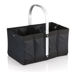 Picnic time - Urban Basket Black - The Urban Basket is a folding, collapsible canvas basket that's as versatile as it is stylish. It has a stationary, form-fitted aluminum handle to which the accordion-style canvas body folds for compact storage, and a snap closure keeps the basket folded. The padded, interior base flattens out to keep the basket erected or folds in half lengthwise for storage. Use the Urban Basket for shopping or to transport items at or away from home.