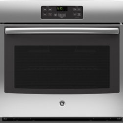"GE - JT1000SFSS 30"" Built-In Electric Single Wall Oven With 5.0 cu. ft. Oven Capacity - Your GE 30 in Single Wall Oven in Black provides a full 50 cu ft capacity per oven for ample cooking space The Standard Clean Oven with Steam Clean Option lets you easily wipe down loosened baked-on foods The Big View oven window allows you to see yo..."
