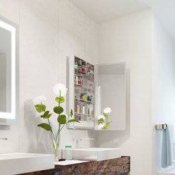 Medicine Cabinet Options from Electric Mirror - Ambiance Mirrored Cabinet - Electric Mirror - Valley Light Gallery