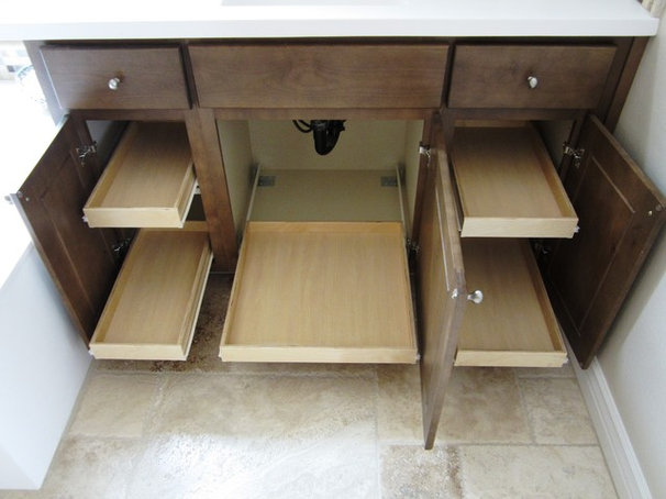 Traditional Bathroom Cabinets And Shelves by Slide Out Shelves LLC