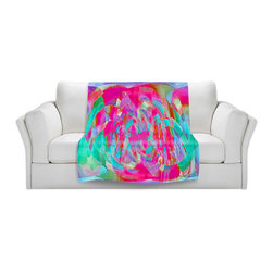 DiaNoche Designs - Fleece Throw Blanket by Ruth Palmer - Hot Pink Chards - Original Artwork printed to an ultra soft fleece Blanket for a unique look and feel of your living room couch or bedroom space.  DiaNoche Designs uses images from artists all over the world to create Illuminated art, Canvas Art, Sheets, Pillows, Duvets, Blankets and many other items that you can print to.  Every purchase supports an artist!