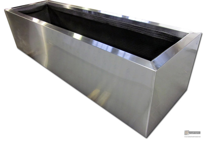 Modern Indoor Pots And Planters by Riverside Sheet Metal & Contracting Inc.