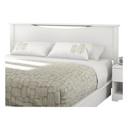 "South Shore - South Shore Step One King Headboard in Pure White - South Shore - Headboards - 3160290 - European-inspired, this king headboard (78"") is suitable for a 78"" king bed. Its geometric lines and Pure White finish will complement your bedroom with an air of elegance."