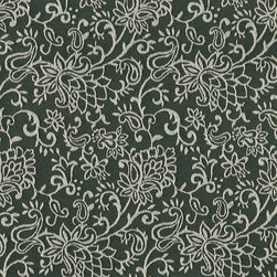 Green, Contemporary Floral Designed Woven Upholstery Fabric By The Yard - This material is an upholstery grade jacquard fabric. It is lightweight, but is rated heavy duty and upholstery grade.