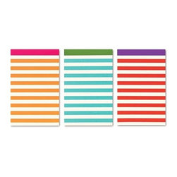 Kate Spade - kate spade Stripe Notepads - Set of 3 - Three stylish Stripe Notepads by kate spade new york in three different striped colors. Pepper them throughout your busy life (in the kitchen, on your desk at work, by your night stand) and youll always be covered.
