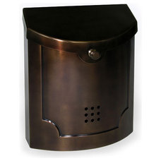 Traditional Mailboxes Ecco Wall Mount Mailbox, Bronze