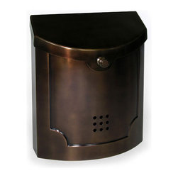 Ecco Wall Mount Mailbox, Bronze - This wall mount mailbox by Ecco is both traditional and modern at the same time.  It comes in six different metal finishes, sure to match your existing decor.