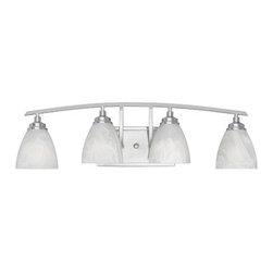 Designer Fountain - Tackwood 4-Light Bath Bar - 4-Light Bath Bar
