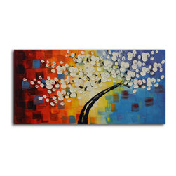 """Omax Decor - Blown Away Hand painted oil canvas - Overall size: 20"""" x 40"""". Enjoy a 100% Hand Painted Wall Art made with oil paints on canvas stretched over a 1"""" thick wooden frame. The painting is professionally hand-stretched and ready to hang out of the box. With each purchase of our art you receive a one of a kind piece due to the handcrafted nature of the product."""
