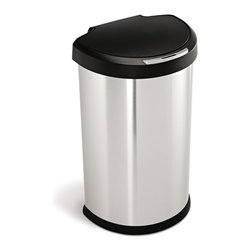 simplehuman - 45 Litre Semi-Round Sensor Can - No more fumbling! This touch-free trash can opens automatically with a wave of your hand. And multi-sense technology adapts to your behavior, so it won't open by mistake or close before you're finished.