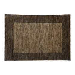 Gabbeh Peshawar Area Rug, 5'X7' 100% Wool Hand Knotted Beige Striped Rug SH7976 - Our Modern & Contemporary Rug Collections are directly imported out of India & China.  The designs range from, solid, striped, geometric, modern, and abstract.  The color schemes range from very soft to very vibrant.