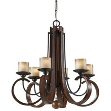 Chandeliers Madera Chandelier No. 2590 by Murray Feiss