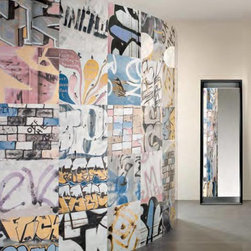 Museum Series - Bansky inspired porcelain tiles are great for floors or walls. Make any space hip and cool using Bansky tiles.
