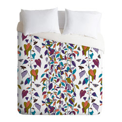 DENY Designs - Rachelle Roberts Endless Vines White Duvet Cover - Turn your basic, boring down comforter into the super stylish focal point of your bedroom. Our Luxe Duvet is made from a heavy-weight luxurious woven polyester with a 50% cotton/50% polyester cream bottom. It also includes a hidden zipper with interior corner ties to secure your comforter. it's comfy, fade-resistant, and custom printed for each and every customer.