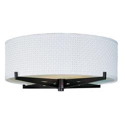 ET2 - ET2 E95400-100 Elements 3-Bulb Flush Mount Indoor Ceiling Fixture - Fabric Shade - Product Features: