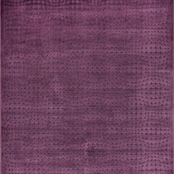 Loloi Rugs - Loloi Rugs HAL2HT-07PU005377 Halton Too Purple Transitional Rug - For Halton Too, Loloi borrows the power-loomed construction from its original Halton Collection, adding a series of fresh, tonal, chenille/viscose designs in sophisticated fabric-inspired and geometric patterns. The cool, serene palette spotlights on-trend blues, grays and silvers.