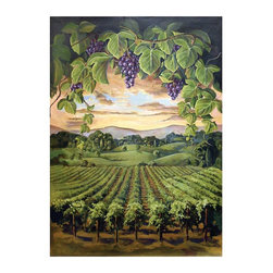 Wine Cellar Innovations - Hand Painted Murals for WineMaker Series Archway Openings - Wine Elegance - These wine themed murals are hand painted and designed to fit with in your WineMaker Series Archway Opening.