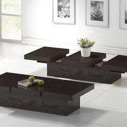 Baxton Studio Cambridge Dark Brown Wood Modern Coffee Table -