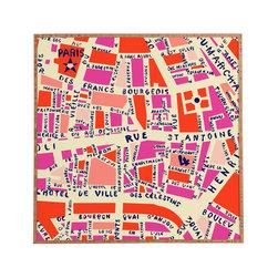 Holli Zollinger Paris Map Pink Framed Wall Art - Bamboo frame with high gloss print