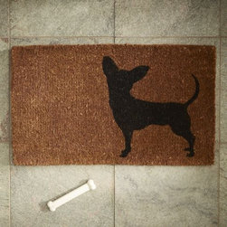 Nino Doormat - I love this door mat for two reasons: (1) I'm a proud Chihuahua owner, and (2) my dog's name is Nico, but we call her Nina. It seems like the Nino Doormat was made especially for my home!