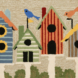 "Trans-Ocean - 20""x30"" Frontporch Birdhouses Multi Mat - Richly blended colors add vitality and sophistication to playful novelty designs.Lightweight loosely tufted Indoor Outdoor rugs made of synthetic materials in China and UV stabilized to resist fading.These whimsical rugs are sure to liven up any indoor or outdoor space, and their easy care and durability make them ideal for kitchens, bathrooms, and porches. Made in China."