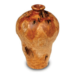 Enrico - Enrico Root Wood Medium Urn - -Made from environmentally-friendly reclaimed fir stumps with an easy care food-safe lacquer finish
