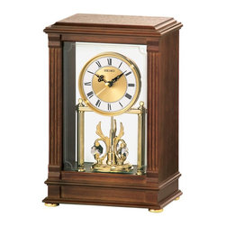 Seiko - Seiko Starling Wood Mantel Clock - QXN219BLH - Shop for Clocks from Hayneedle.com! About SeikoOver its 120 year history as a maker of fine timepieces the Seiko name has become synonymous with cutting edge technology ultra-precision constant innovation and refinement. Millions worldwide rely on Seiko wristwatches to keep them on schedule. Two generations have grown up thrilling to Olympic and World Cup competitions where victory or defeat is defined within a fraction of a second all overseen by Seiko timekeepers.Seiko's far-reaching modern empire has its roots in a humble Tokyo clock repair shop opened by Kintaro Hattori in 1881 nearly a century before the introduction of its first landmark wristwatch. Today Seiko continues to offer a wide array of clocks and movements for any home including wall alarm desk mantel musical and heirloom quality decorative pieces. Beautiful on the outside quality components on the inside Seiko products will serve you for years to come.