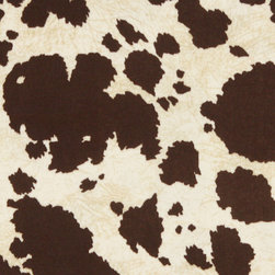 Brown Cow Animal Print Microfiber Stain Resistant Upholstery Fabric By The Yard - Microfiber fabric is the premier choice for indoor upholstery. This fabric is stain resistant, soft and incredibly durable. Plus it is easy to clean and made in America! Microfiber is excellent for residential, commercial and automotive upholstery.