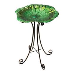 Regal Art & Gift - Birdbath with Stand Lily Pad - Birdbath with Stand Lily Pad
