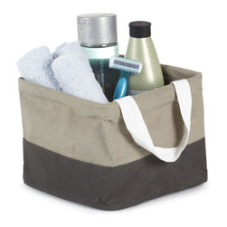 Umbra - Umbra Crunch Mini Tote, Grey - Our Crunch Tote from Umbra will carry everything you need from the dorm room to hit the showers. Perfect for carrying shampoo, conditioner, toothbrush, toothpaste and other necessities. This gray square tote is made of 100% cotton canvas and is lined with laminated polypropylene for easy wipe and clean.