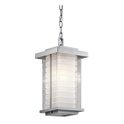 Kichler Lighting - Kichler Lighting 49368PL Ascari Modern / Contemporary Outdoor Hanging Light - This versatile 1 light incandescent outdoor fixture from the Ascari™ collection makes a clean, understated statement. With its Platinum finish and Clear Outer Glass with Etched Inside Inner Glass, this design will enhance any space.
