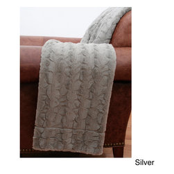 Thro - Reagan Rabbit Faux Fur Throw - Bring a stylish touch to any space with the super soft and warm Reagan rabbit faux fur throw blanket. Made from 100-percent polyester,this elegant throw is available in a variety of colors that will complement your current decor.
