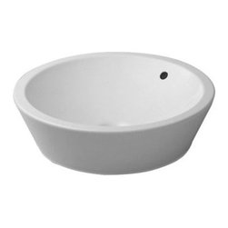 Duravit - Duravit 04475300001 Wash Bowl 21in Starck 1 White w/ Overflow w/o Tap Platform - Philippe Starck S Design Searches For The Origin of Things.