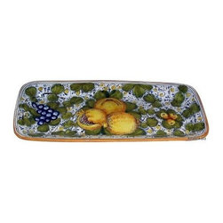 Artistica - Hand Made in Italy - Tuscania: Rectangular Platter - Tuscania Collection: