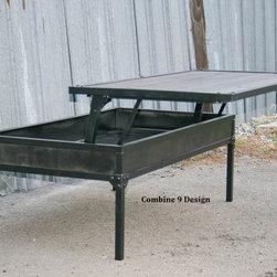 Modern Industrial Coffee Table (Adjustable Height). Urban. Vintage Industrial. -