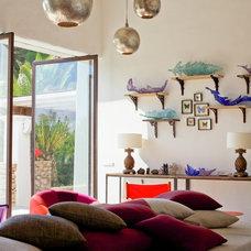 Mediterranean Family Room by Godrich Interiors